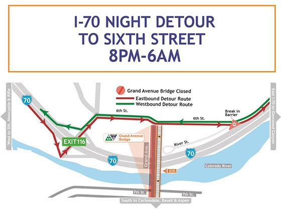 I-70 Night Detour