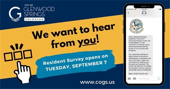 We want to hear from you! Resident Survey opens on Tuesday, September 7