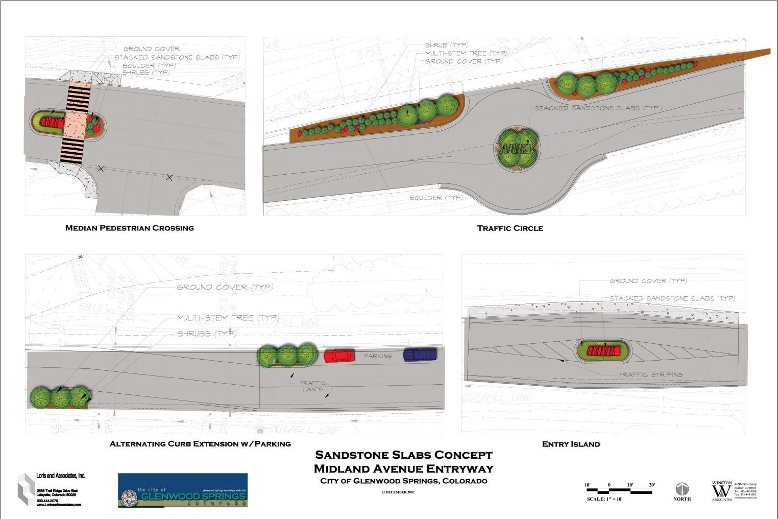 Detailed concept designs of the entryway sandstone