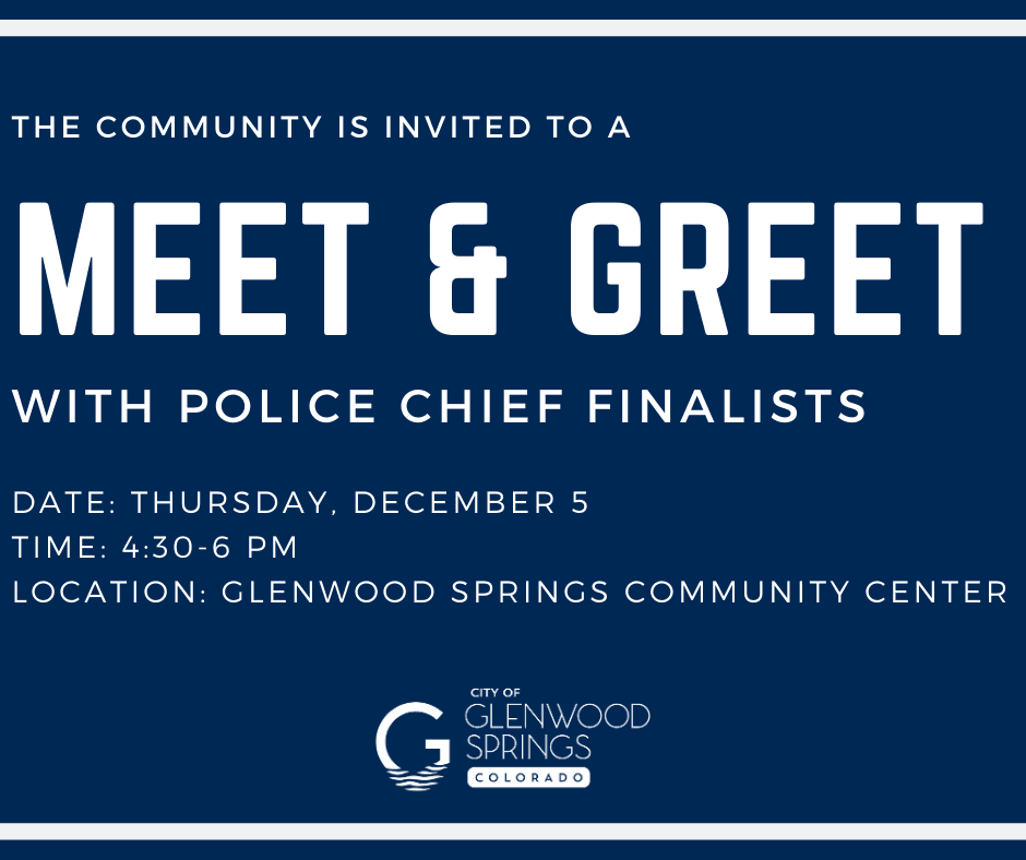 Meet and Greet with Police Chief Finalists