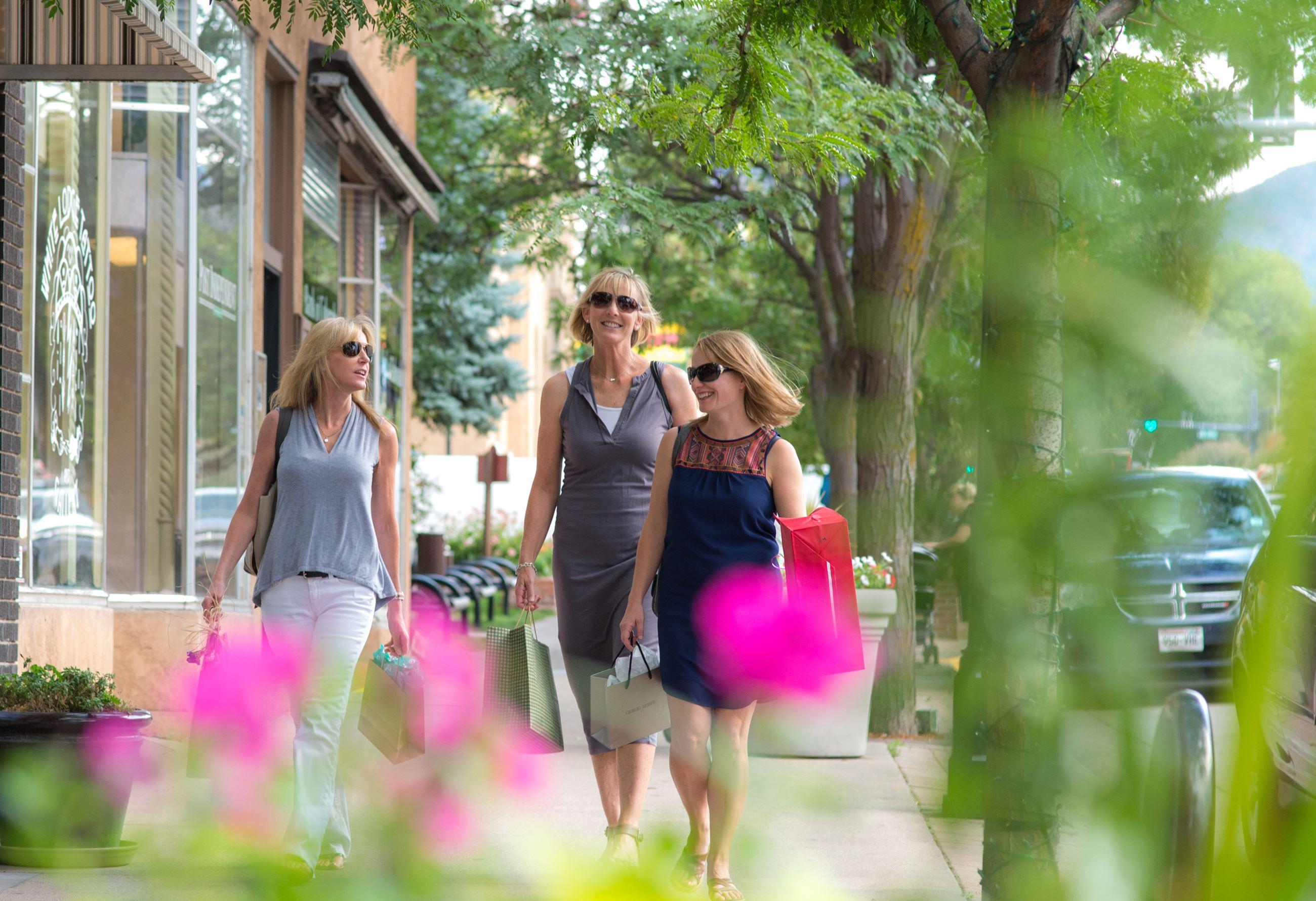 Shoppers on Grand Avenue