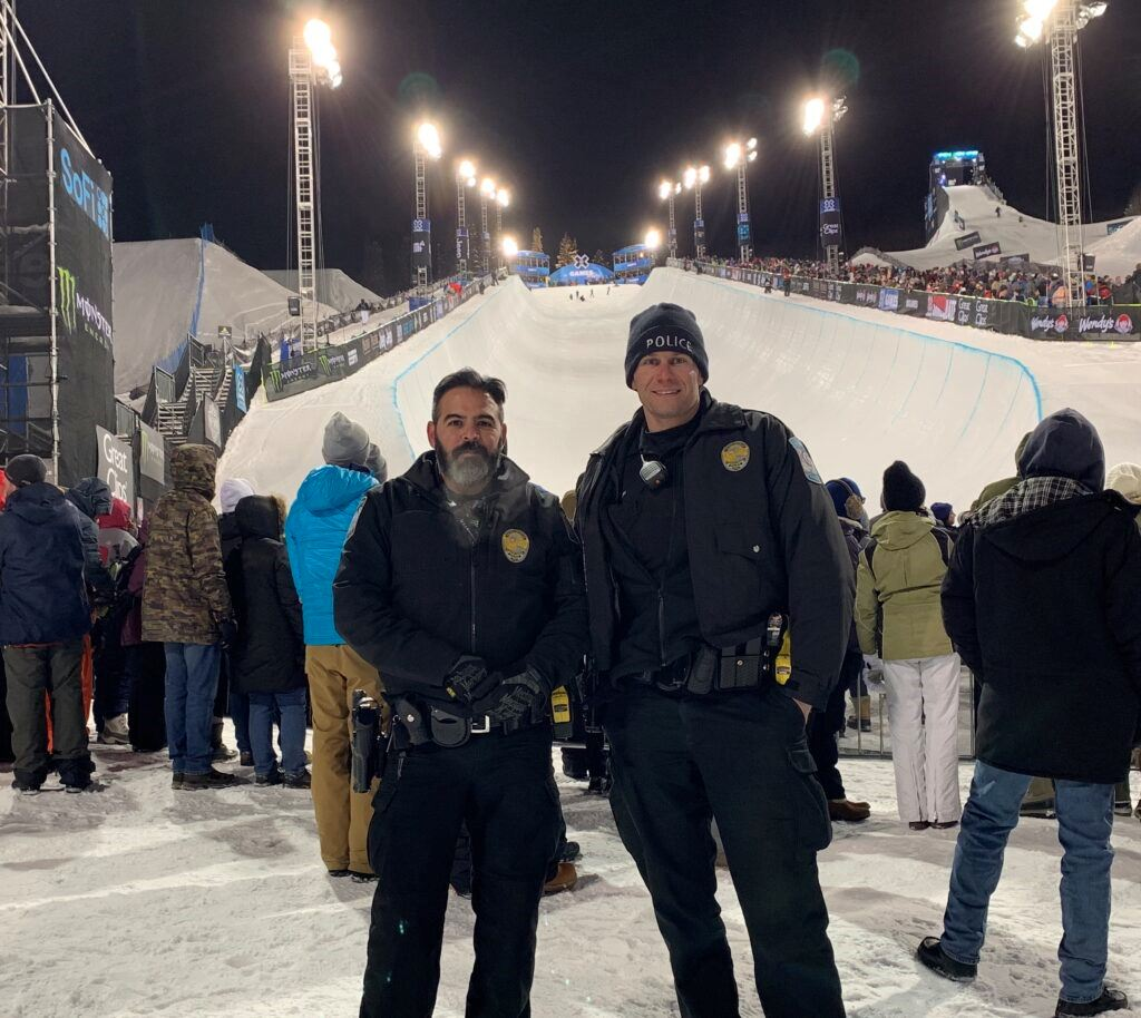 Officers at a Winter Sports Event